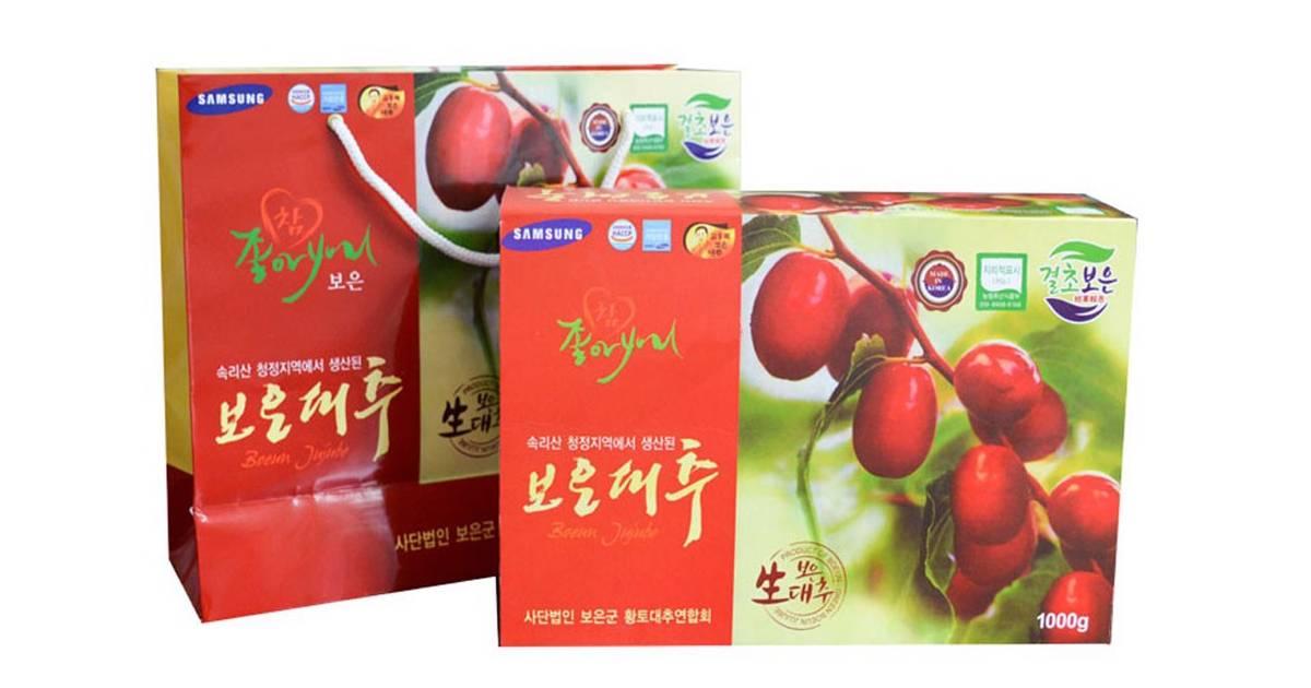 Táo đỏ khô Hàn Quốc 1000g
