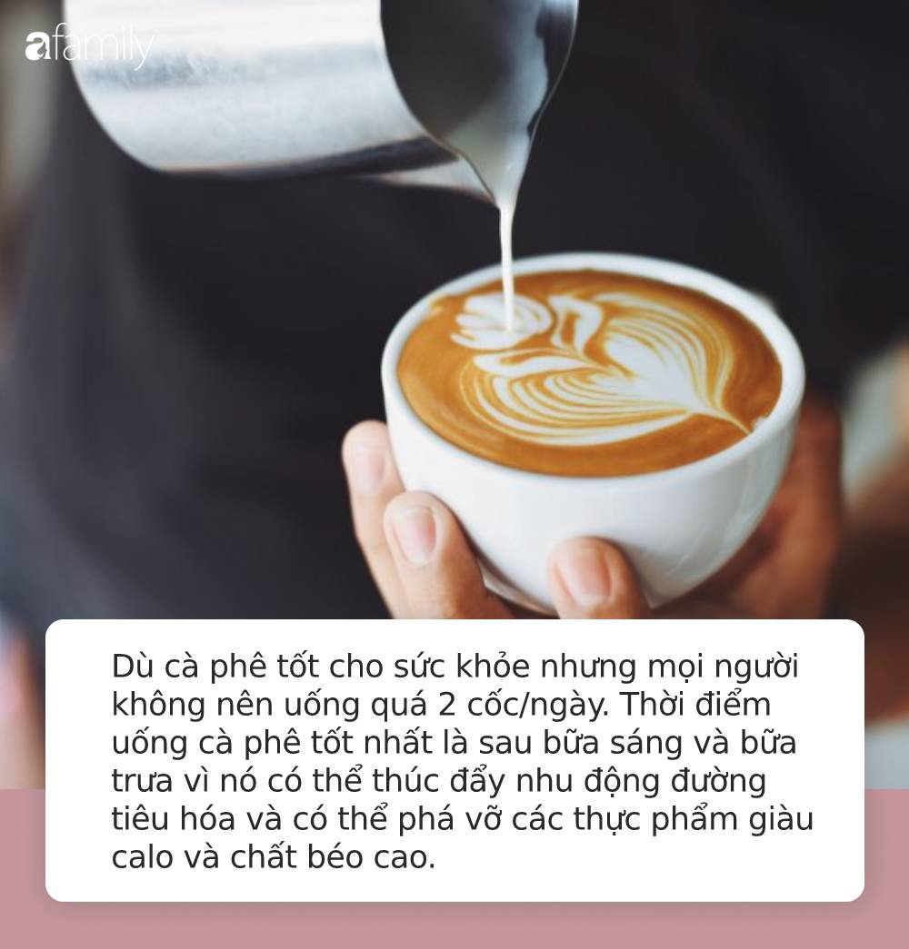 thói quen xấu là uống quá nhiều cafe