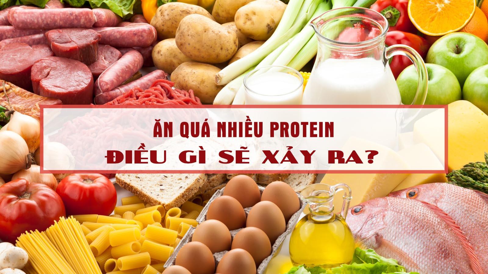 thói quen ăn quá nhiều protein